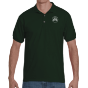 mens tyro polo by gildan forest green